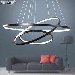 Schwarz weiß rahmen led anhänger lichter für die küche esszimmer moderne Hängen Lampen abajour beleuchtung glanz innen leuchten