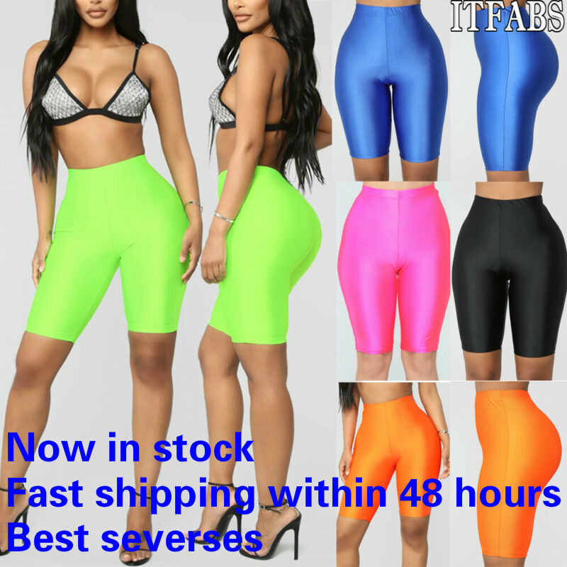 Vrouwen Biker Shorts Hoge Taille Actieve Gym Workout Yoga Shorts Leggings Sexy Stretch Bodycon Hot Korte Leggings