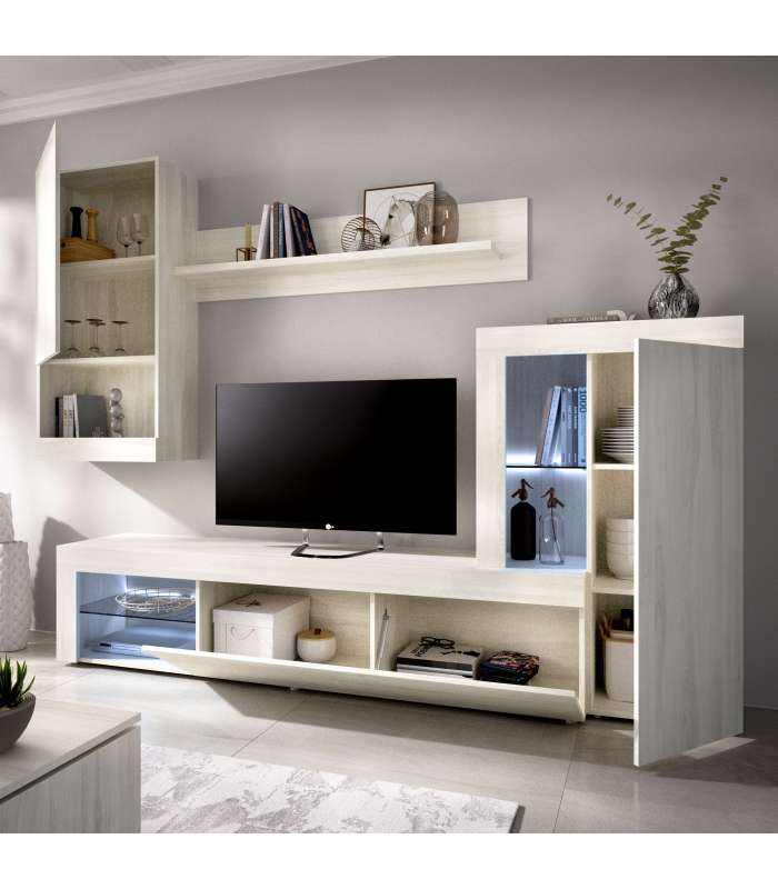 Furniture Lounge Kure With Showcase And Leds Purposes.
