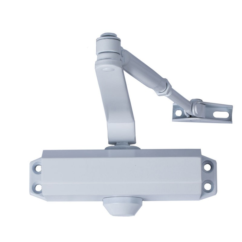 Door Closer With Retainer Force 2. Color White (Doors 70/90 Cm.)
