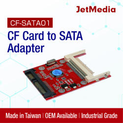 CF card to SATA Adapter JetMedia CF-SATA01 High Quality convert CF card to SATA