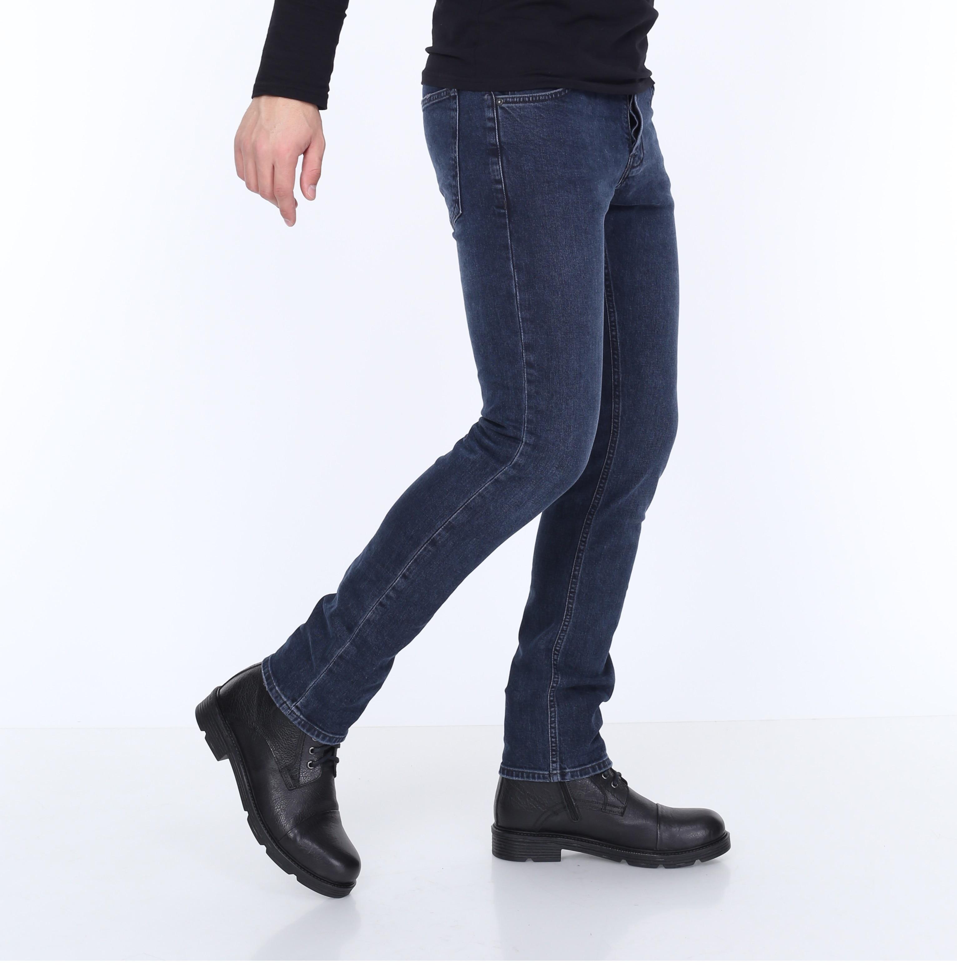 HW 16214 Mens Jeans Slim Fit, Stretch,St.Valentine's Gift For Men Real European Size, Comfort, Turkish, Стильный дизайн,Homme