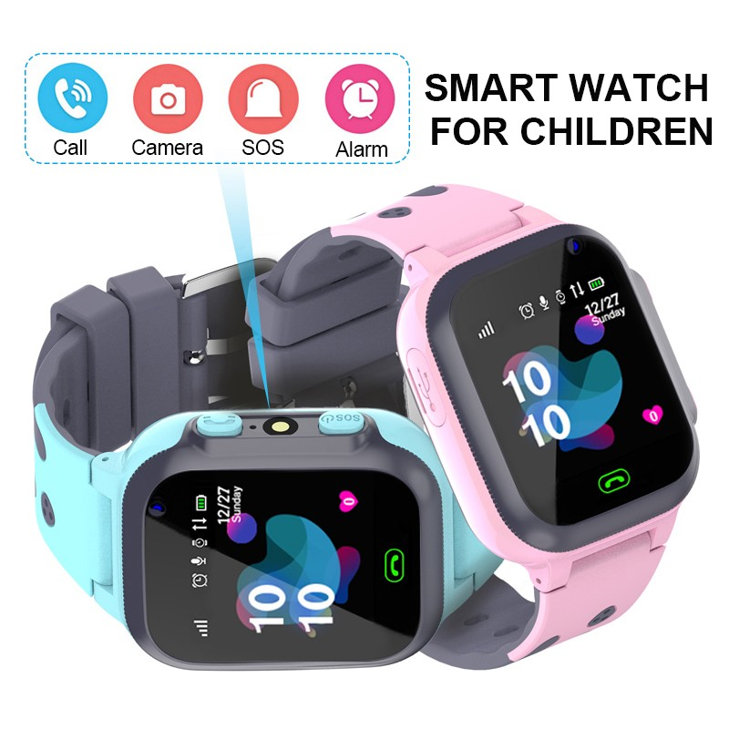 Original Waterproof Kids Smart Watch For Children GPS SOS Anti-lost Smartwatch Baby 2G SIM Card Clock Call Tracker Watch