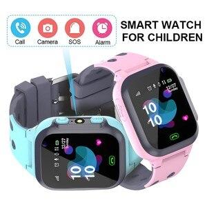 Image 1 - Original étanche enfants montre intelligente pour enfants SOS Anti perte Smartwatch bébé 2G carte SIM horloge appel Tracker montre
