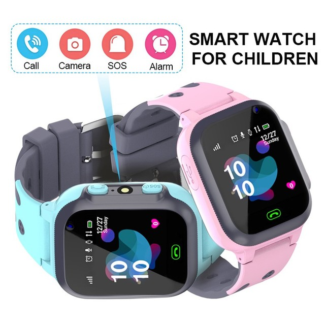 Original étanche enfants montre intelligente pour enfants SOS Anti perte Smartwatch bébé 2G carte SIM horloge appel Tracker montre