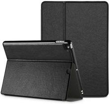 цена на EasyAcc® Ultra Slim iPad Air Smart Case Cover with Stand Auto Sleep Wake-up for Apple iPad Air iPad 5 Premium PU Leather Black