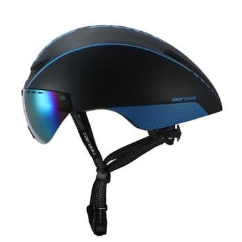 2018 Cairbull nuevo modelo 8 Color Casco de Bicicleta de carretera aerogafas de AERO-R1 bicicleta ciclismo ultraligero MTB TT visera magnética UV