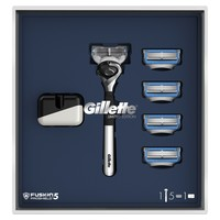 Gillette Fusion 5 ProShield Chill Gift Set Limited Edition with Chrome Handle (Razor + 5 Replaceable Cassettes + Stand) батарейки заряжаемые от usb