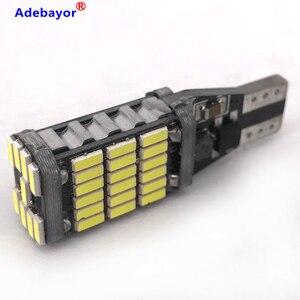 Image 3 - Canbus, 100 pièces, lampe de stop supplémentaire T15 t10 45 SMD 4014 LED, lumière de marche arrière pour voiture, lumière blanche de jour, 12V 24V, pièces