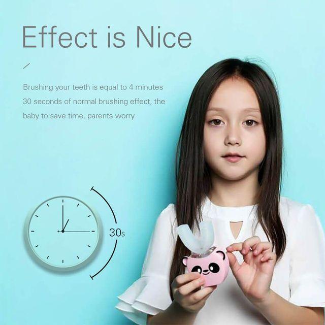 Smart U 360 Degrees Kids Sonic Electric Toothbrush Music Silicon Automatic Ultrasonic Teeth Tooth Brush Cartoon Pattern Children 5
