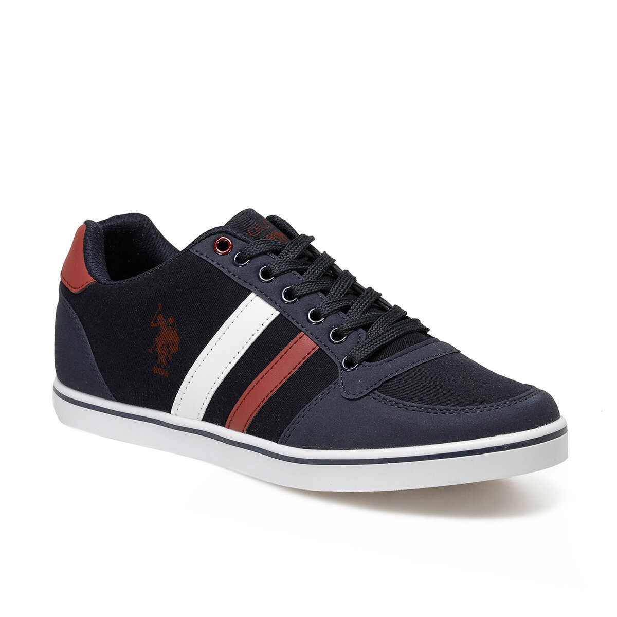 FLO Navy Blue Men Sneaker Shoes For Men Summer Men Sneakers Lace Up Low Top Footwear Breathable Sport Trainers Zapatillas Hombre U.S. POLO ASSN. REGGIE