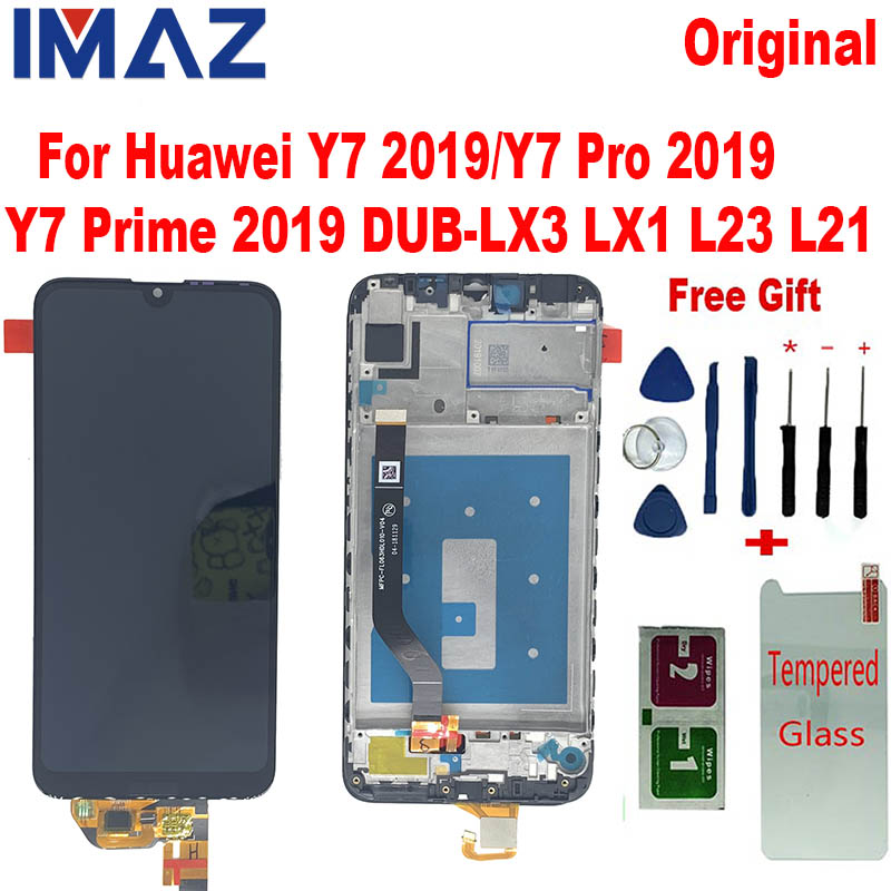 IMAZ Original For Huawei Y7 2019 Y7 Prime 2019 DUB-LX3 LX1 LCD Display With Touch Screen Digitizer Assembly For Y7 PRO 2019 LCD