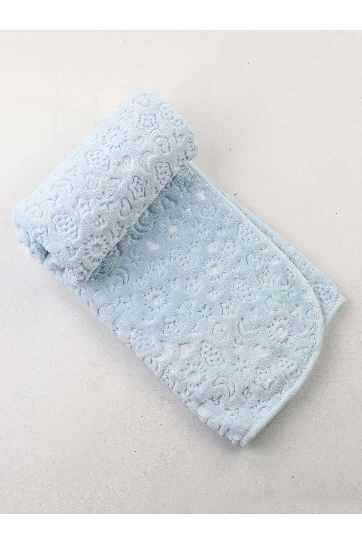 Blue Plush 120x100 Cm Male Baby Blanket