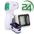 пульсоксиметр Тонометр, монитор уровня кислорода в крови с OLED-дисплеем, Пальчиковый пульсоксиметр, монитор насыщения кислородом + цифровой ...