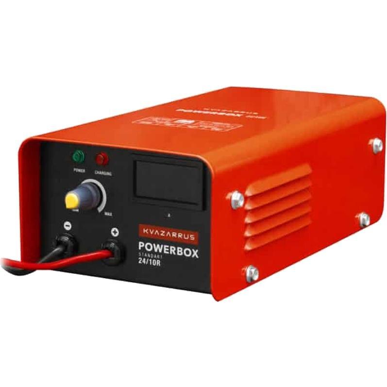 Пуско зарядное устройство KVAZARRUS PowerBox 24/10R (200 А/ч; 10 А; амперметр; ускоренная зарядка; защита от перегрева;|Кабель от внешнего источника питания|   | АлиЭкспресс