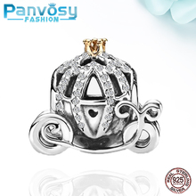 New Jewelry Making Sterling Silver 925 Bead Fit Pandora Charms Silver 925 Original Bracelet 2020 Charm Pumpkin Carriage DIY Gift choruslove jack o lantern charms authentic 925 sterling silver pumpkin coach carriage beads fit pandora halloween diy bracelet