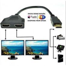 Converter Cable 1 to 2 outputs 1080P HDMI male to 2 female Port