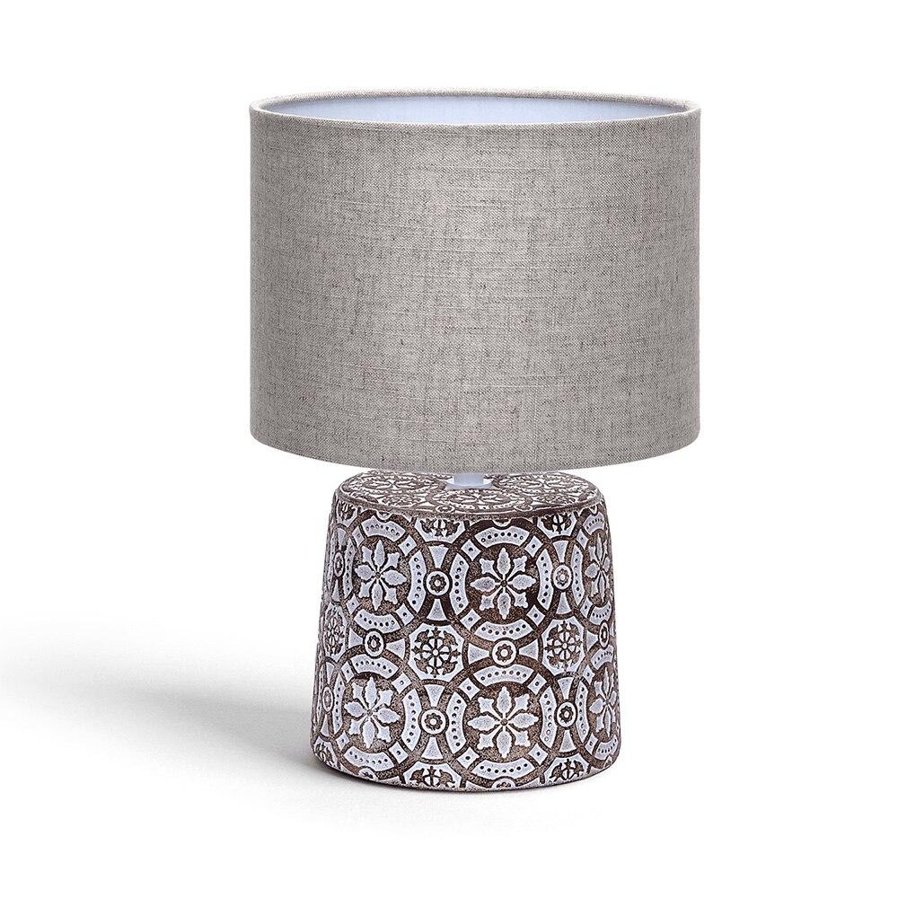 AIGOSTAR CERAMIC TABLE LAMP E14 06 BROWN
