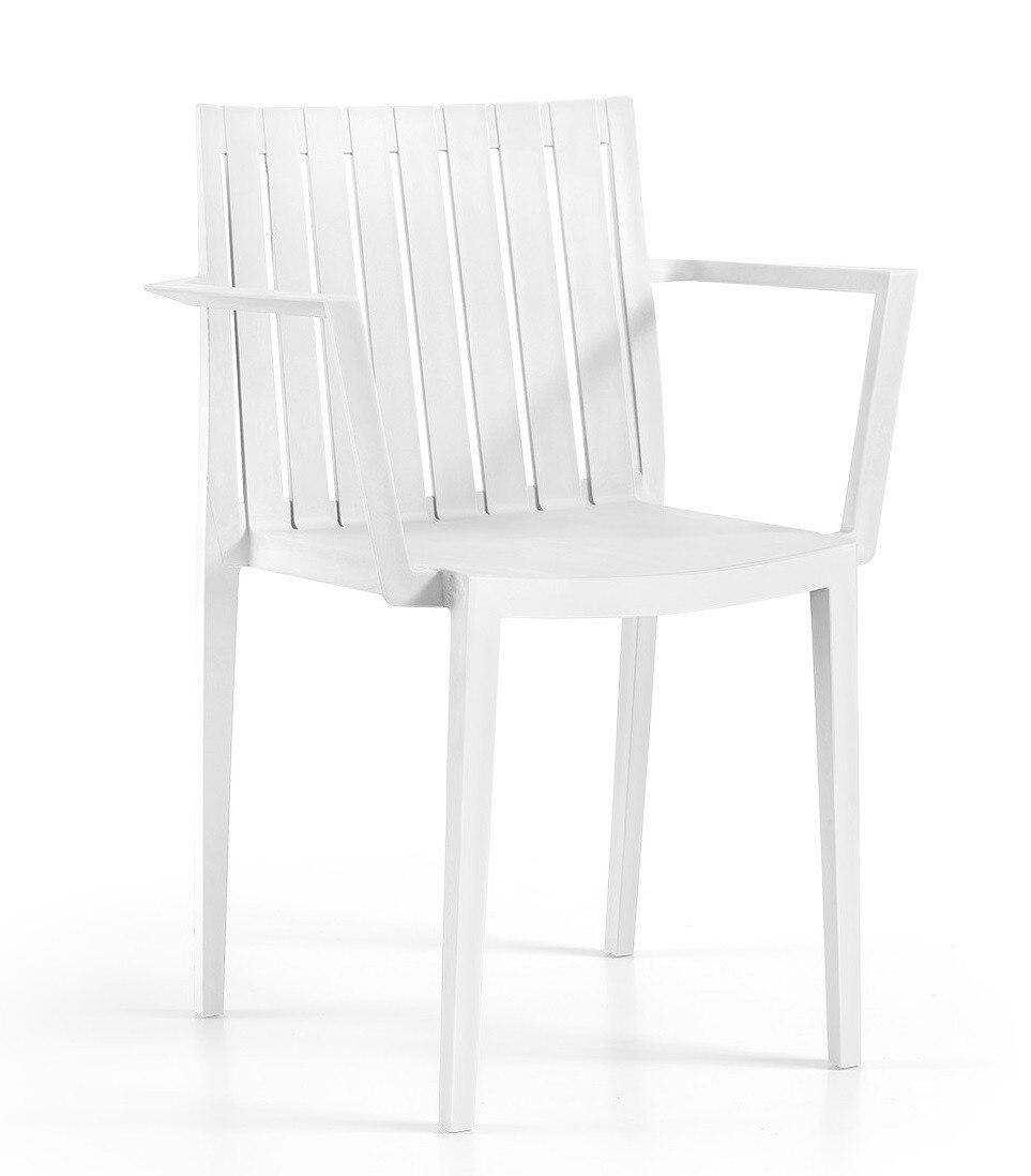 Armchair CHOPIN Stackable Polypropylene White *