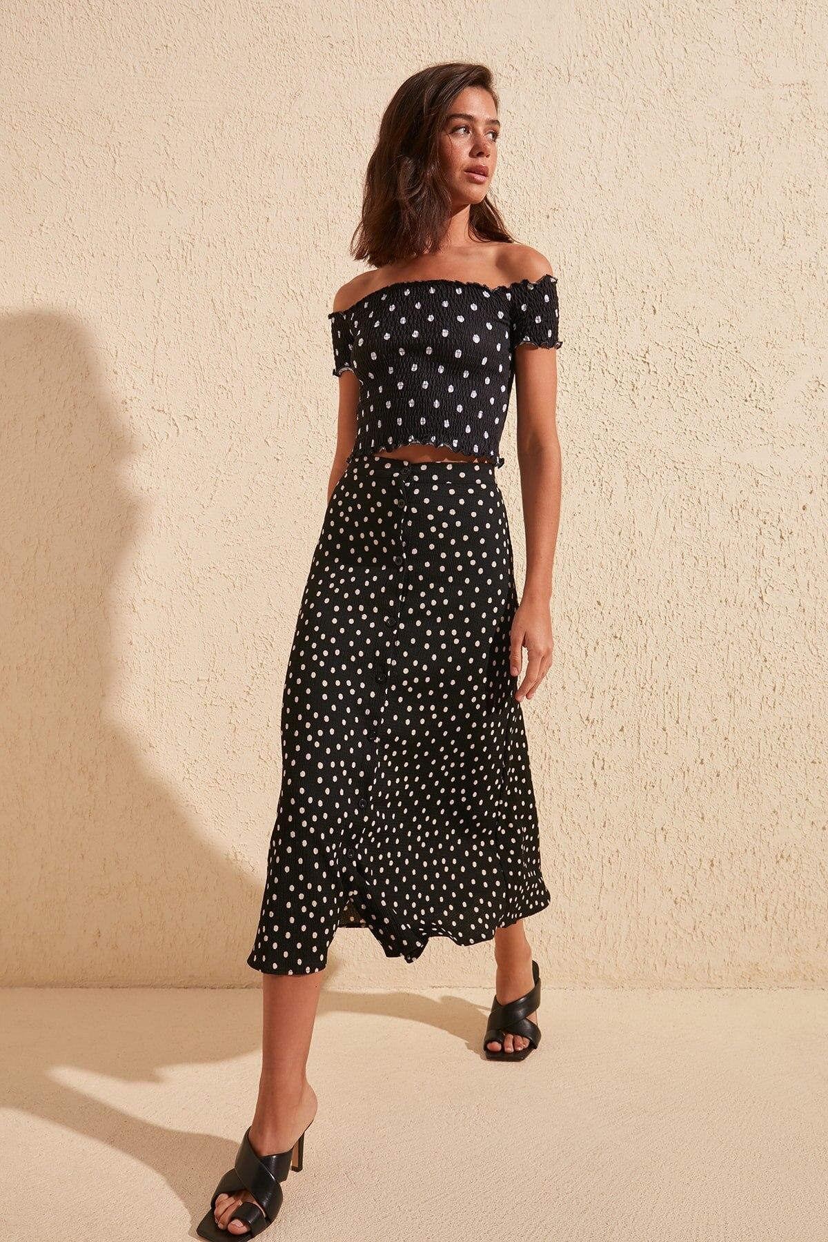 Trendyol Printed Knitted Skirt TWOSS20ET0412