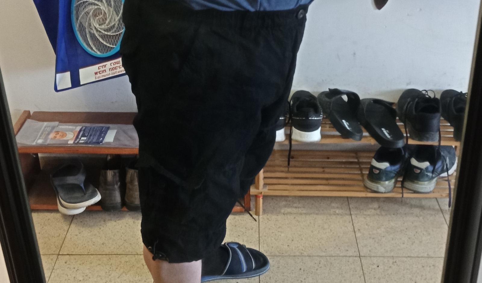 Mens Loose Comfy Cotton Cropped Trousers Pure Color Sweatpants Size L-5XL photo review