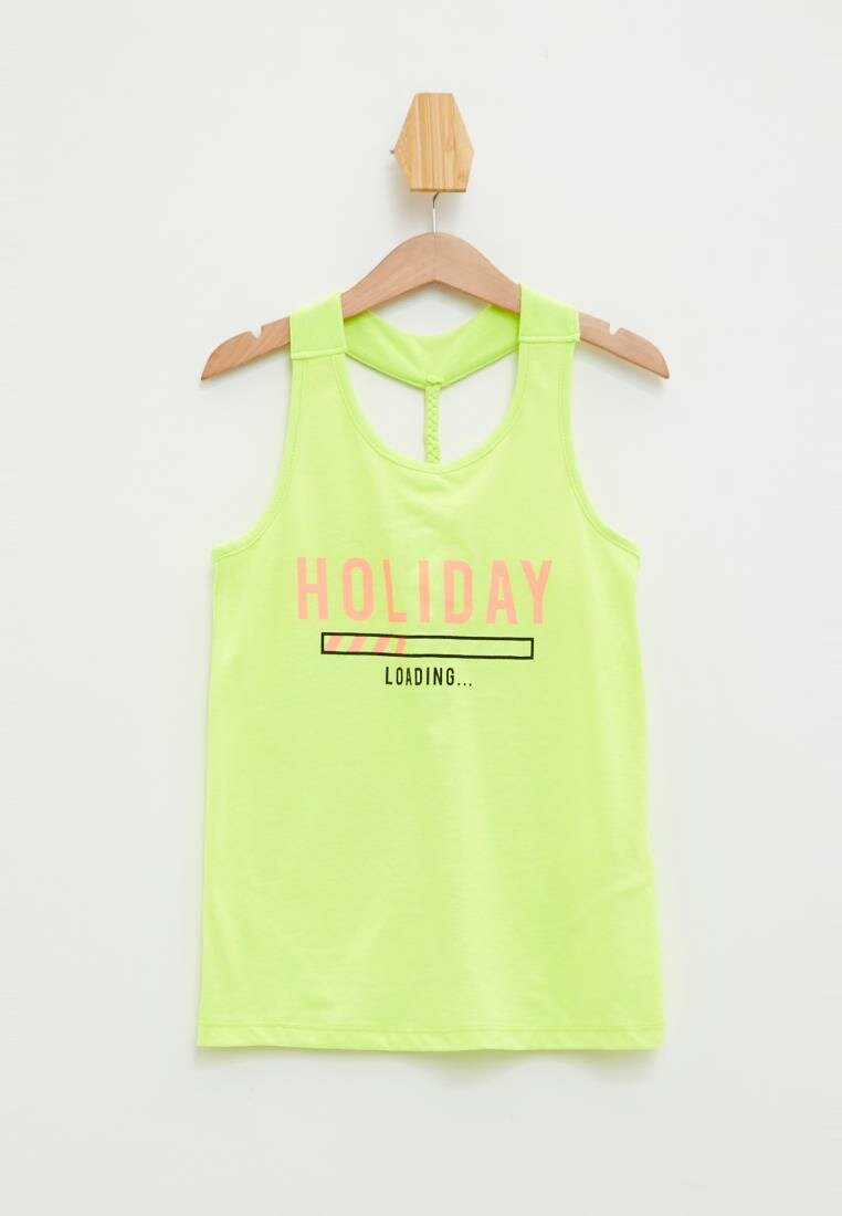 DeFacto Fashion Kids O-neck Tank Girl Casual Comfort Letter Pattern T-shirt Loose T-shirt Summer New - L5189A619HS