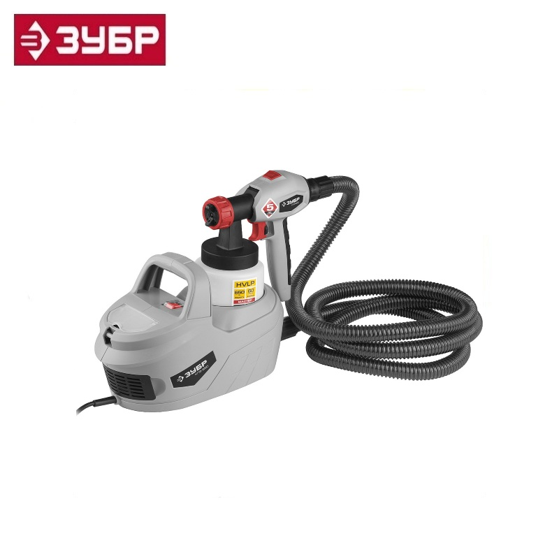 Spray gun (paint sprayer) electric, ZUBR KPE-650, HVLP, 0.8l, spray gun 0-700ml / min, paint viscosity 60 DIN / s, nozzle 1.8mm