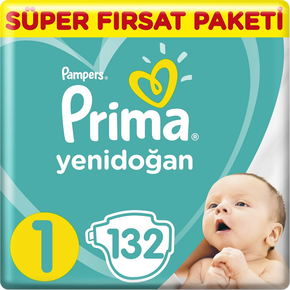No:1 PAMPERS 2-5 Kg Baby Diaper Newborn Nappy Toilet Training Diapering Disposable Swaddlers 132 Pcs Hypoallergenic Diapers