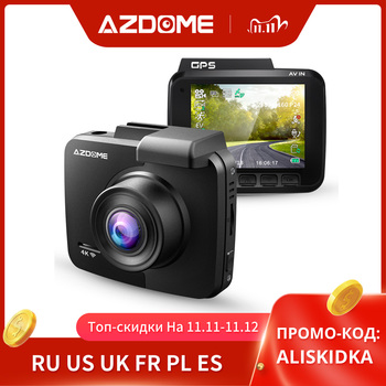 Newest AZDOME GS63H Dash Cam Dual Lens 4K UHD Recording Dashboard Camera Super Night Vision - WDR Built-In GPS Wi-Fi G-Sensor image