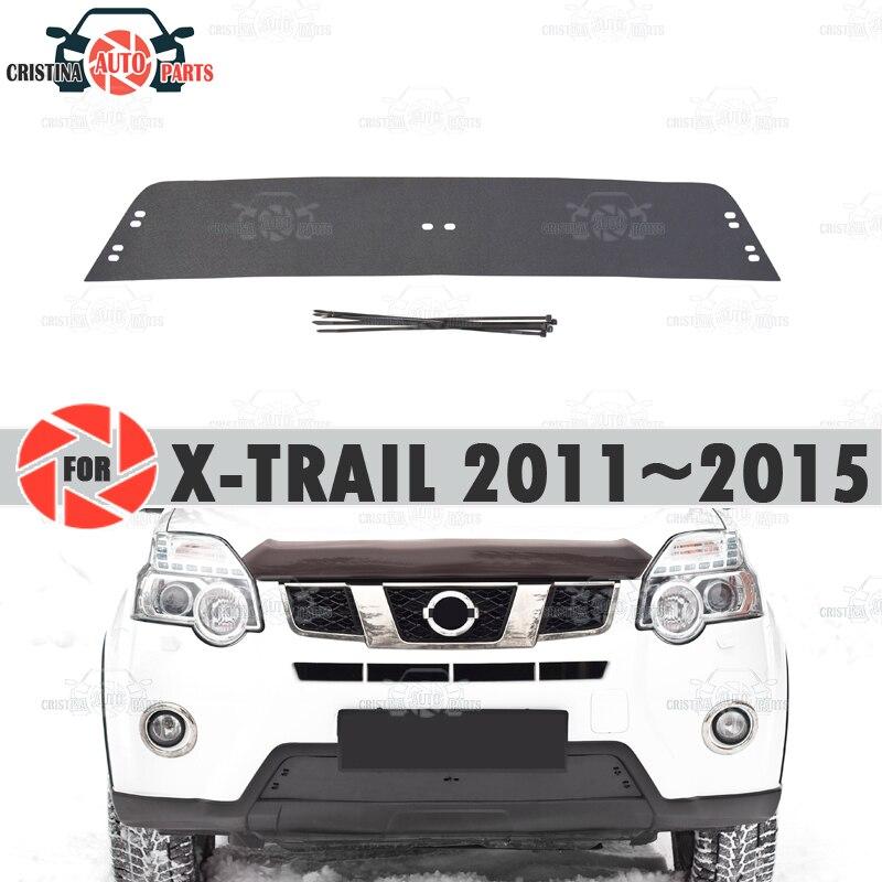 Winter Radiator Cap Voor Nissan X-Trail T31 2011 ~ 2015 Plastic Abs Reliëf Cover Bumper Auto Styling Accessoires decoratie