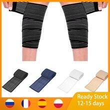 1 шт. высокая эластичность компрессионная повязка 40 ~ 180 см спортивная Кинезиология лента для запястья руки лодыжки сапоги выше колена до бед...