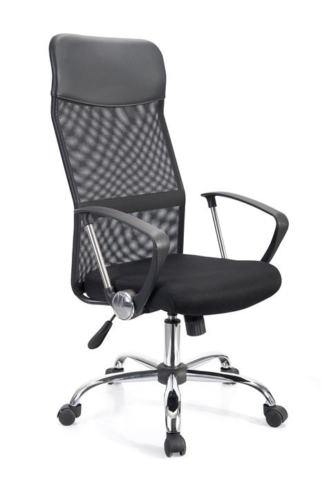 Office Armchair GINO (H), Black Mesh And Woven Mesh Black