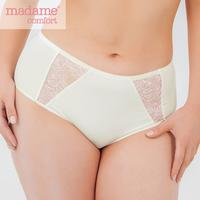 Panties Women's Underpants Briefs Madame Comfort 30181 Polyamide Elastane Cotton Viscose Lace Big Sizes + Women's Underwear Lingerie 52 XXL 54 XXXL Plus Size