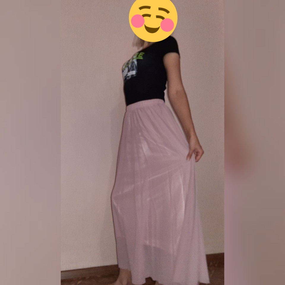 Long Skirt Elegant Style Women Pastel Jupe Pleated Chiffon Maxi Skirts Floor Length Saia Vintage Saias Womens Solid Faldas photo review