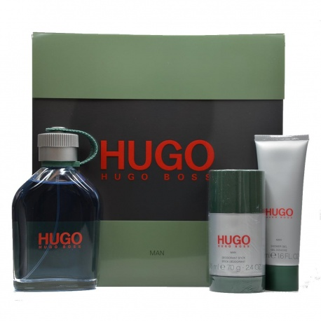 HUGO HOMME EDT 125ML + DEODORANT STICK 75GR + GEL SHOWER 50ML