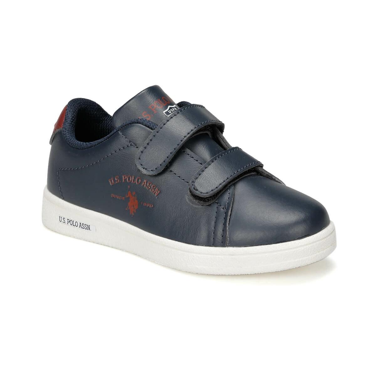 FLO SING 9PR Navy Blue Male Child Sneaker Shoes U.S. POLO ASSN.