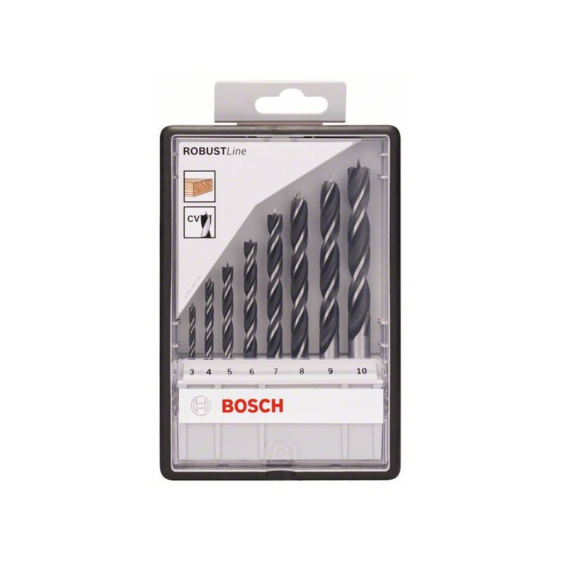 >BOSCH-Wood Robustline <font><b>set</b></font> <font><b>8</b></font> <font><b>pcs</b></font>: 3-10