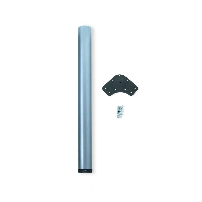 Table Leg Dimmable Emuca D. 80x870mm Steel Metallic Gray