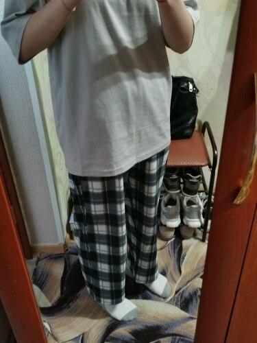 Harajuku Loose Plaid Pants photo review