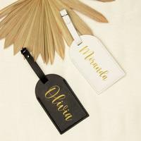 Neue Personalisierte Gepäck Tag Reise Gepäck Name Tag Hochzeit Hen Party Brautjungfer Geschenke Leder Gepäck Tag