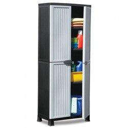 Шкаф из смолы с 3 полками серый 171x68x39 см