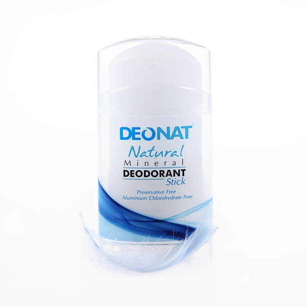 Deonat Deodorant Crystal Clean, Stick Flat, Unscrewed (twist-up)