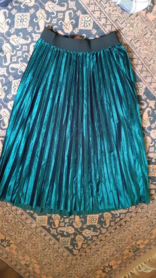 Danjeaner Spring 2019 Women Long Metallic Silver Maxi Pleated Skirt Midi Skirt High Waist Elascity Casual Party Skirt Vintage|Skirts|   - AliExpress