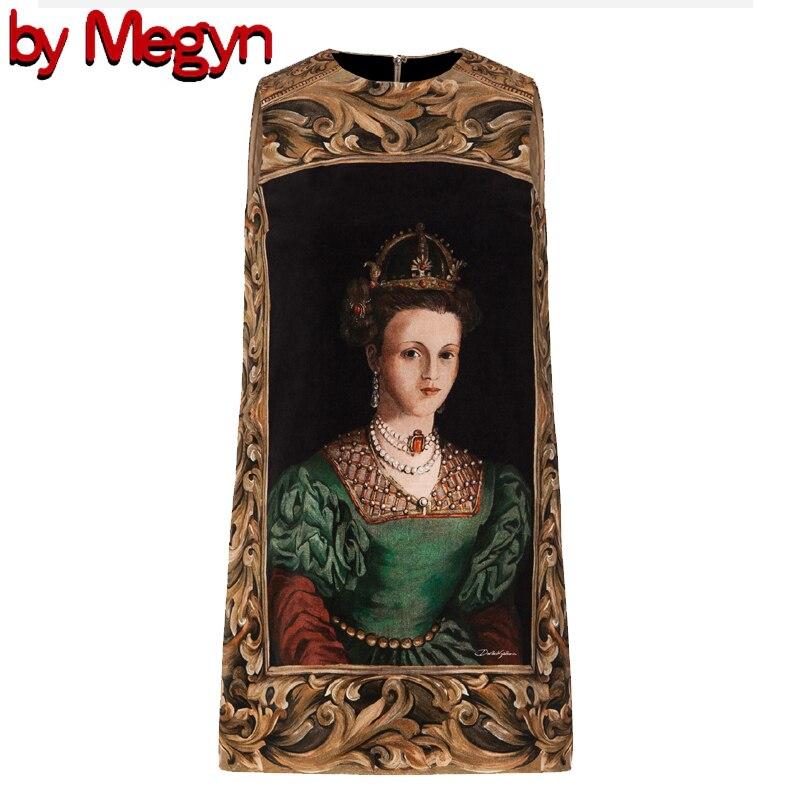2020 весна лето дизайнерское Брендовое Новое Стильное платье для подиума женское повседневное свободное винтажное платье без рукавов Короле