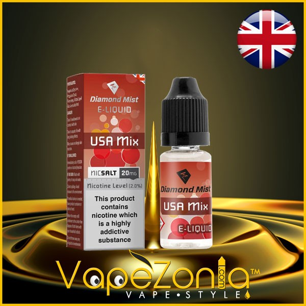 Diamond Mist E Liquid Nic Salt USA MIX 20 Mg - 10 Ml