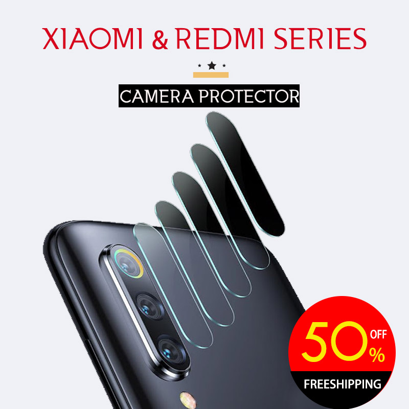 Camera Protector Xiaomi Redmi Series Note 8 Pro / Mi 9T / Mi Note 10 Transparent Tempered Glass Lens Protection Tempered Glass