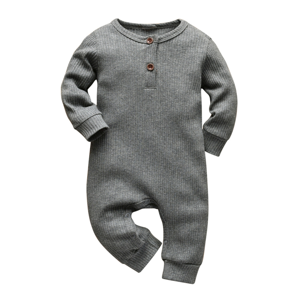 9 Color Newborn Infant Baby Boys Girls Romper Cotton Knitted Ribbed Long Sleeve Solid Jumpsuit Toddler Clothes Outfits | Happy Baby Mama