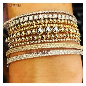 Image 3 - Dainty Bracelet Gold Filled Stack Electroplating Minimalist Bead Ball Beaded Shiny Metal Stretch Bracelet BM27782