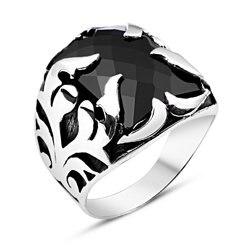 925 пробы Серебряное кольцо рыцаря с цирконием