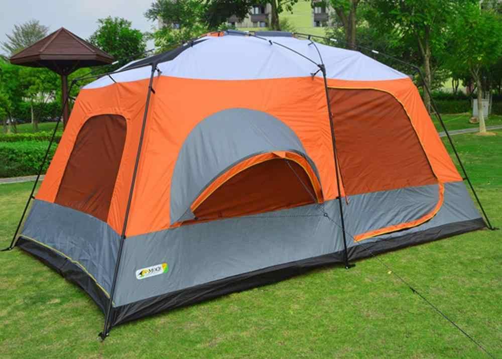 2 غرفة 1 قاعة 8-10 أشخاص سوبر كبير طبقة مزدوجة غير نافذ للمطر في الهواء الطلق خيمة تخييم عائلية